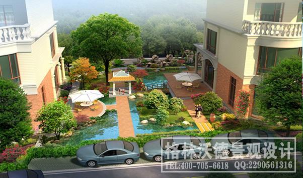 家园别墅庭院 1、设计特色之水景:水景区顾名思义,以水为主体。由景墙入,内植荷花,四周栽以春芋、垂柳等耐水湿 植物,配以置石,营造出一片宁静安逸的空间。在有月亮的夜晚,此区便会呈现出明月松间照,清泉石上流 的优美意境。 2、设计特色之芳香花草芳香花草区是专为园主设计的一片可自由控制的空间,可根据季节,主人喜好栽植各 类芳香植物,如薄荷、藿香、瑞香等。